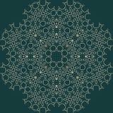 Großes hoch entwickeltes symmetrisches Blumenmuster in der arabischen Art Stockfotografie
