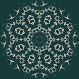 Großes hoch entwickeltes symmetrisches Blumenmuster in der arabischen Art Stockbilder