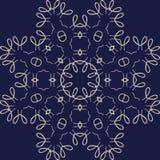 Großes hoch entwickeltes symmetrisches Blumenmuster in der Celtsart Lizenzfreie Stockbilder