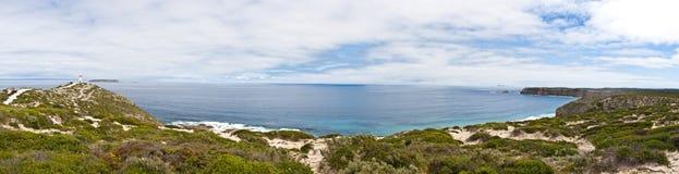 Großes Küstenlandschaftspanorama Stockbild