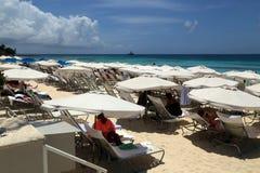 Großes Kaiman Marriott-Strandurlaubsort Stockbilder