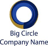 Großes Kreisfirmenlogo-Markennamerad entwarf Vektorillustrationssymbol Lizenzfreies Stockbild