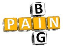 großes Kreuzworträtsel der Schmerz-3D Lizenzfreies Stockfoto