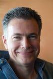 Großes Lächeln-grüne Augen Lizenzfreie Stockbilder