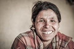 Großes Lächeln in Nepal Stockbilder