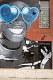 Großes lächelndes Wandgemälde Lizenzfreies Stockbild