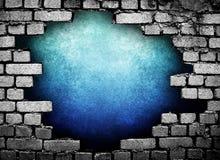 Großes Loch in der Wand Stockbild