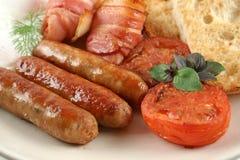 Großes Mischgrill-Frühstück stockfoto