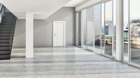 großes modernes helles Innenraumwohnung Luxuswohnzimmer mit stockfotos