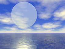 Großes Mond-Entstehen Stockfotografie