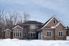 Großes neues Haus Lizenzfreies Stockfoto