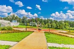 Großes Nowosibirsk-Planetarium Parklandplanetariums-Öffentlichkeit acces Lizenzfreies Stockfoto
