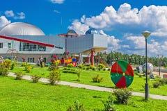Großes Nowosibirsk-Planetarium Parklandplanetariums-Öffentlichkeit acces Lizenzfreies Stockbild