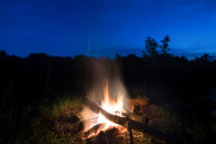 Großes orange Feuer im Feuer Lizenzfreies Stockbild