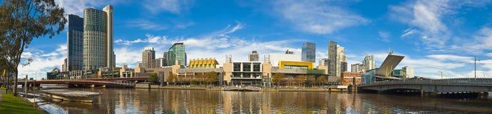 Großes Panorama Flusses des Melbourne-Yerra Stockfotografie