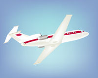 Großes Passagierflugzeug im Himmel Stockbild