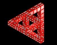 Großes Penrose-Dreieck von den Würfeln Stockfotografie