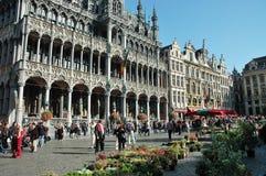Großes Placein Brüssel stockfotos