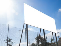 Großes Plakatwerbungszeichen Stockbild