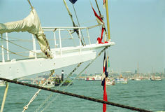 Großes portugiesisches Segelschiff CEAOB lizenzfreies stockbild