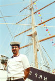 Großes portugiesisches Segelschiff CEAOB stockfoto