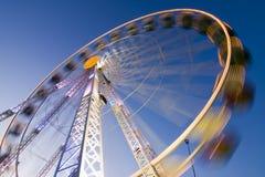 Großes Rad auf einer Spaßmesse Lizenzfreies Stockbild