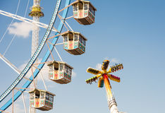 Großes Rad beim Oktoberfest in München Lizenzfreie Stockbilder