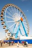 Großes Rad beim Oktoberfest in München Stockbilder