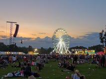 Großes Rad an der Insel des Wight-Festivals Stockbild