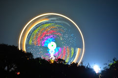 Großes Rad an der Insel des Wight-Festivals Stockfoto