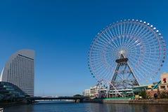 Großes Rad Yokohamas am Cosmo-Weltvergnügungspark Stockbild