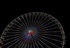 Großes Riesenrad mit Nachtzeit, in Essen, Deutschland Stockbild