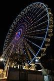 Großes Riesenrad mit Nachtzeit, in Essen, Deutschland Lizenzfreie Stockbilder