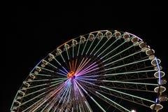 Großes Riesenrad mit Nachtzeit, in Essen, Deutschland Lizenzfreie Stockfotos