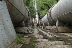 Großes Rohr, den Fluss anschließen, Version 4 Lizenzfreie Stockfotos