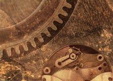 Großes rostiges Uhrwerk Stockbild