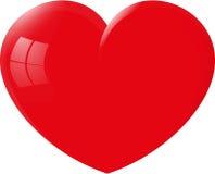 Großes rotes Herz Stock Abbildung