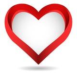 Großes rotes Herz auf weißem Hintergrund Lizenzfreie Stockfotos