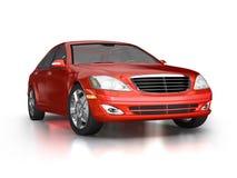 Großes rotes Luxuxauto Lizenzfreies Stockfoto