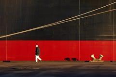 Großes Schiff im Dock Lizenzfreie Stockbilder