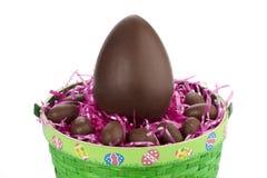 Großes Schokoladenei Lizenzfreies Stockbild