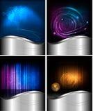 Großes Set abstrakte Technologiehintergründe Lizenzfreie Stockbilder