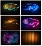 Großes Set abstrakte Technologiehintergründe. Vektor Stockbild
