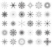 Großes Set der Schneeflocke Stockbilder