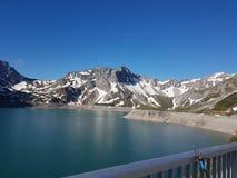 Großes Spaßfischen Luenersee AUT Stockbilder