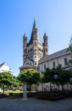 Großes St. Martin Church in Köln Lizenzfreies Stockbild