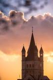 Großes St. Martin Church in Köln Lizenzfreie Stockbilder