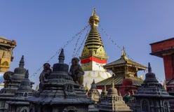 Großes Stupa im Swayambhunath-Tempel Lizenzfreies Stockfoto