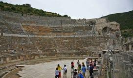 Großes Theater in alter Stadt Ephesus Stockfotografie