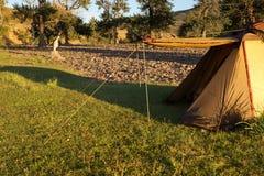 Großes touristisches Zelt Stockfotos